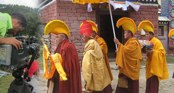 Cultural film shooting in Nepal