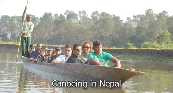 Canoeing in Nepal