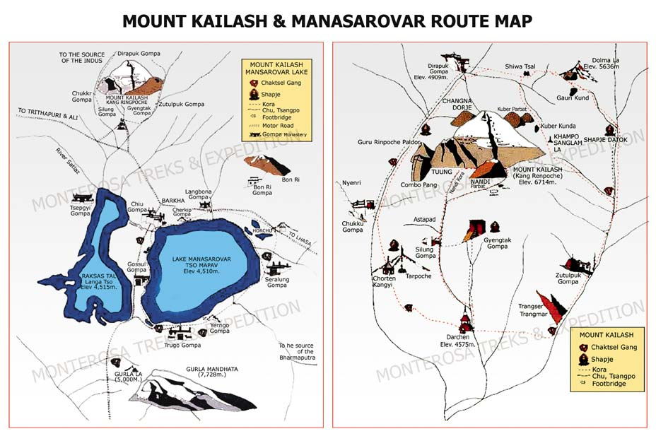 Kailash Route Map